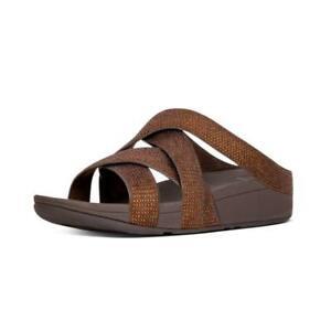 e907255fb58 Fitflop Women s Slinky Rokkit Criss-Cross Slide Open-Toe Sandals ...