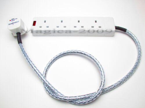 4 Gang AUDIOPHILE SECTEUR bloc 1 m Câble d/'alimentation secteur blindé Surge Protected WSS1