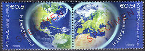 CYPRUS 2009 PLANET EARTH - SPECIMEN MNH