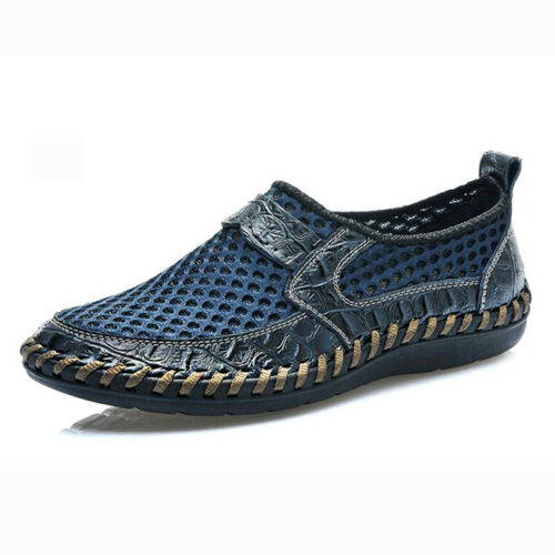 Fashion Athletic Outdoor Mens Solid Net Canvas Loafer Shoes Net Sneackers Size
