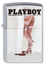 ZIPPO Feuerzeug PLAYBOY COVER AUGUST 1978 Brushed Chrome Pin Up Girl NEU OVP