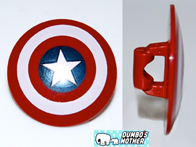 Lego Captain America Shield Star Red Round Front Bullseye Minifigure New For Sale Online