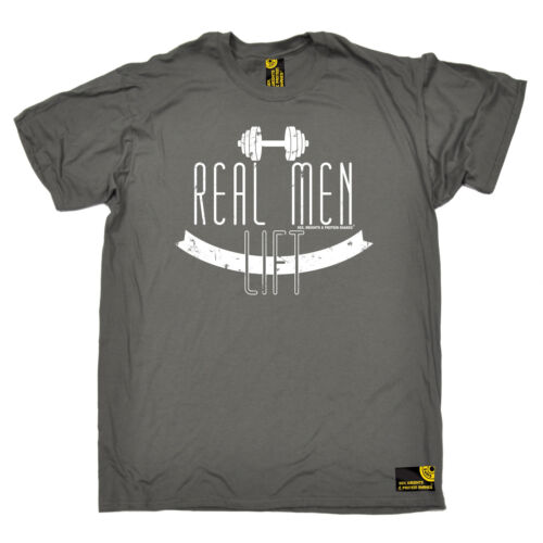 Real Men Lift MENS SWPS T-SHIRT birthday gift workout gym training fitness