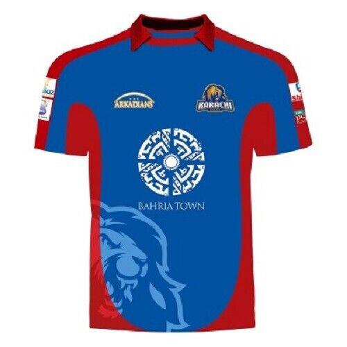 70/% Off Official and Original PSL Karachi Kings Collar Shirt Top