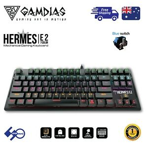 Gaming-PC-Keyboard-Mechanical-Blue-Switch-Multi-Colour-Backlit-87-Keys-HERMES-E2