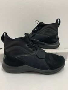 Puma Phenom Suede Womens High Top Sneakers Sz 6.5 Black, Box16 | eBay