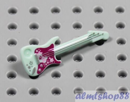 Aqua Rock Star Disco Band Instrument Friends LEGO Electric Guitar Minifigure