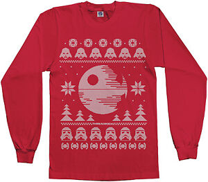 image is loading dark side of force star wars ugly christmas - Ebay Ugly Christmas Sweater