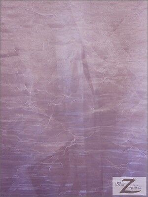 "CRINKLED//CRUSHED ORGANZA FABRIC-Burgundy 60/"" SOLD BTY SATIN//TAFFETA//CHARMEUSE"