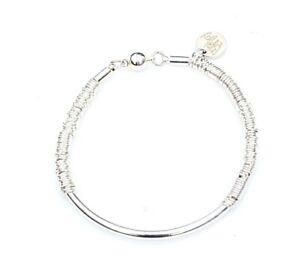 Silver-Plated-Leather-Noodle-Bead-Bracelet-Bijoux-Stacking-Bracelet