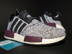 cheap for discount cb4a9 2977b Details about 2016 ADIDAS NMD R1 J CHAMPS SPORTS WHITE BURGUNDY BLACK OREO  R2 XR1 BA7841 7