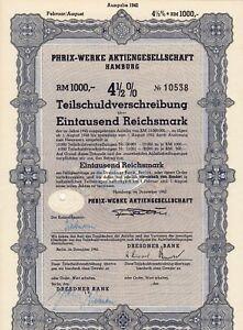 Phrix-Werke Aktiengesellschaft Hamburg - TSV 1000 RM - Dezember 1942 - Oelsnitz, Deutschland - Phrix-Werke Aktiengesellschaft Hamburg - TSV 1000 RM - Dezember 1942 - Oelsnitz, Deutschland