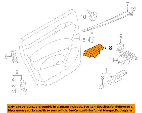 AUDI OEM 09-15 Q7 Interior-Rear Door-Switch Panel Right 4L0959522A6PS