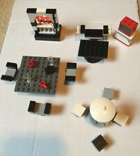 LEGO LIVING & DINING ROOM FURNITURE COUCH FIREPLACE TABLE CHAIRS COFFEE TABLE ++