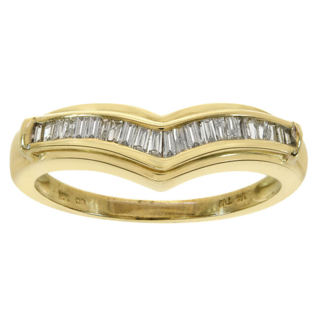 Thin Tapered Baguette Diamond Wedding Band in 14K White