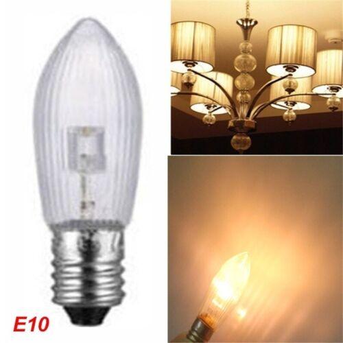 100x LED 0,2W E10 10-55V Topkerzen Riffelkerzen Spitzkerzen Ersatz Lichterkette