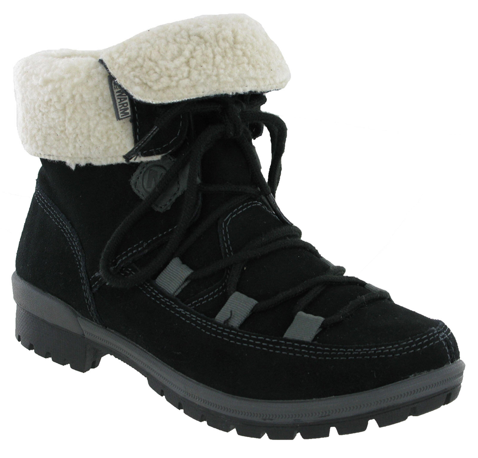Merrell Emery Lace Warm Fleece Fleece Fleece Lined Womens Ankle Walking Boots Black UK3.5-8.5 6819cd
