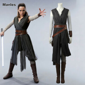 Image is loading 2017-Star-Wars-The-Last-Jedi-Rey-Cosplay-  sc 1 st  eBay & 2017 Star Wars The Last Jedi Rey Cosplay Costume New Year Woman ...