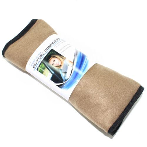 Super Plush Tan Fleece Seat Belt Cover Shoulder Comfort Pad for Car-Truck-Auto