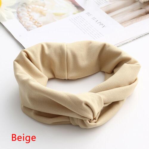 mode twist knoten haarband frauen tragen elastische baumwolle headwrap