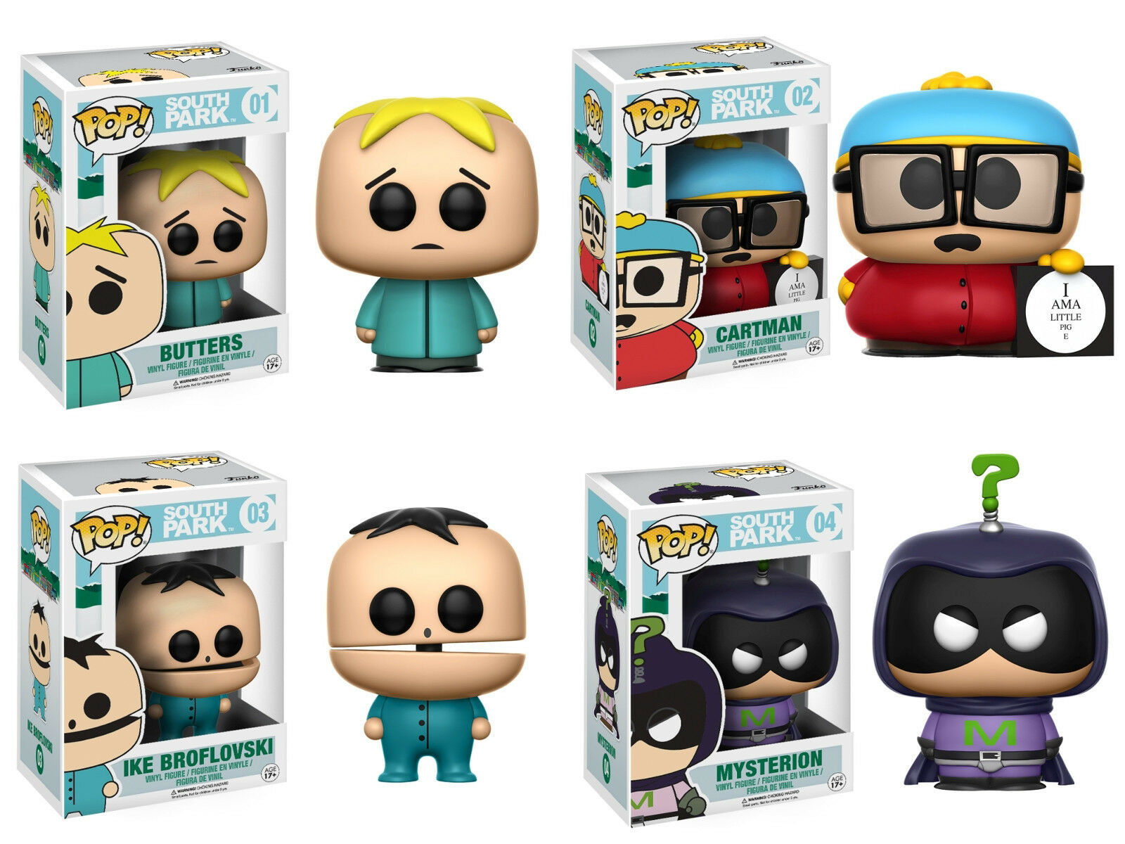 South Park TV Show 4 Figuren Set POP  Southpark  01 -  04 Vinyl Figur Funko