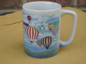 COFFEE-MUG-TEA-CUP-OTAGIRI-JAPAN-DESIGN-BY-P-BREAT-HOT-AIR-BOLLOON-SCENE