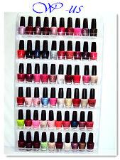 Nail Polish Wall Rack Acrylic hold up to 60 bottles / OPI, ESSIE, CHINA GLAZE...