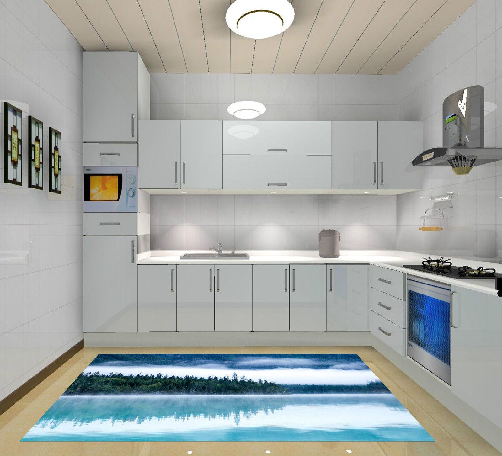 3D Forêt Lac Brumeuse 358 Décor Mural Murale Murale Murale De Mur De Cuisine AJ WALLPAPER FR | Bon Marché  9db1db