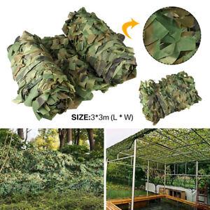 Filet de Camouflage Camo Filet Chasse Tir Combo Cacher Armée Parasol 3X3m