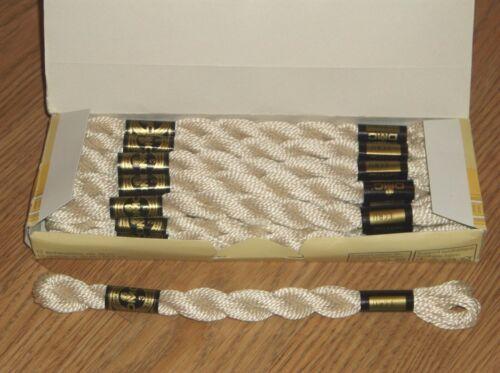 115 SIZE 3 ECRU  16.4YDS x 12 !! BOX//12 SKEINS~DMC COTON PERLE//PEARL COTTON Art