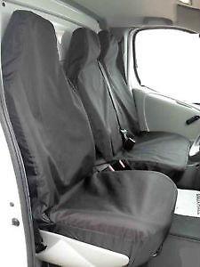 06 ON PEUGEOT BOXER WATERPROOF BLACK VAN SEAT COVERS SINGLE /& DOUBLE 2+1