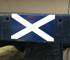 2X MILITARY LAND ROVER ST ANDREWS CROSS SCOTLAND FLAG STICKERS WOLF WMIK SNATCH