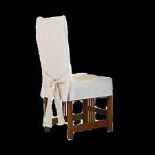 Sure Fit 139725247 Clret Duck Solid Short Dining Room Chair Cover ...