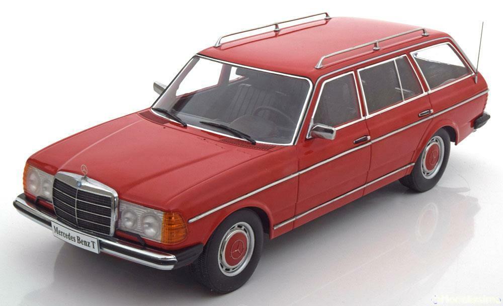 1 18 KK-Scale Mercedes 250T W123 estate 1978-1982 rot