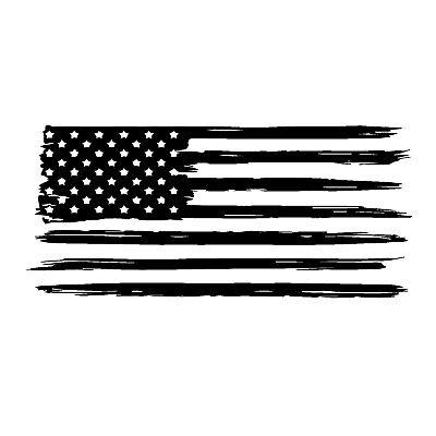 American Flag Distressed decal sticker vinyl graphic USA truck window trailer RV