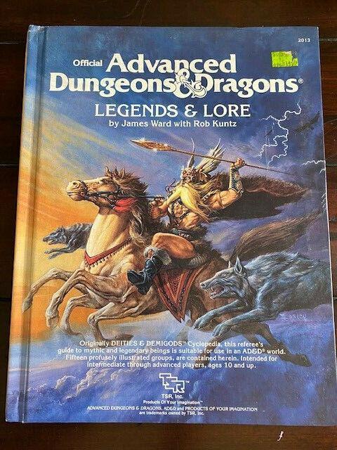 Advanced Dungeons & Dragons Legends & Lore #2013 Ward Kuntz 1984 TSR 1st ED