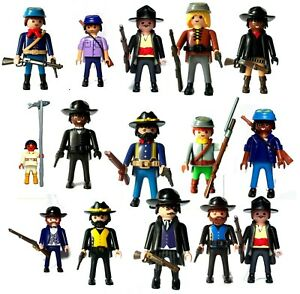 PLAYMOBIL-WESTERN-COWBOY-SOLDIERS-NORTH-SOUTH-UNION-CONFEDERATE-SCOUT-collector