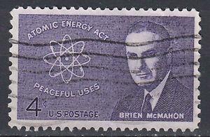 Estados unidos sello con sello 4c Atomic Energy Act Brien McMahon políticos/968