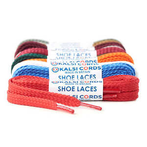 FLAT-SHOELACES-1-PAIR-OF-STRONG-HIGH-QUALITY-SNEAKER-TRAINER-BOOT-SHOE-LACES-9mm