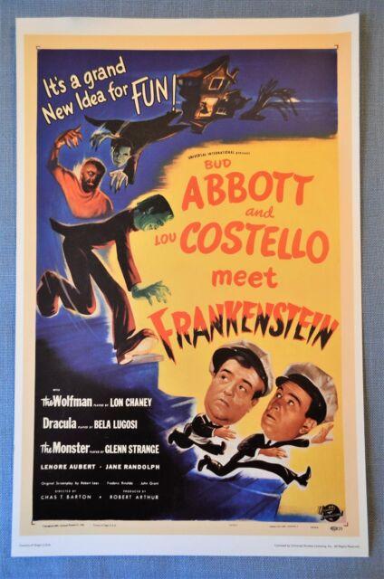 Abbott And Costello Meet Frankenstein 14inx36in Insert Movie Poster Replica