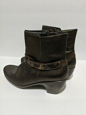 Helm Black Womens Short Boots EU 41 Naot Leather Ankle Booties US 10-10.5 NEW