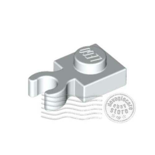 8x LEGO 4085d Piastra Clip verticale 1x1 Bianco4613256