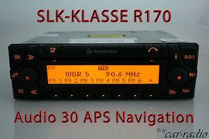 Original-Mercedes-sistema-de-navegacion-audio-30-APS-SLK-clase-r170-w170-Navi-radio