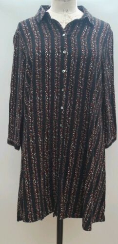 Tea Dress 10 Swing Black Boho Hush Star Cotton Cqgw1qvZ