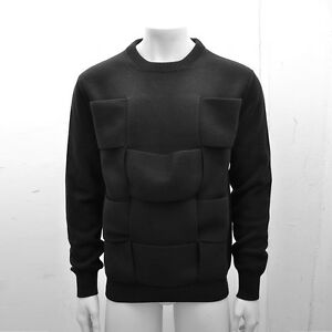 NEW Mens Dior Homme Black Layer Panel Braided Jumper Knitwear ... 8e731eeab83