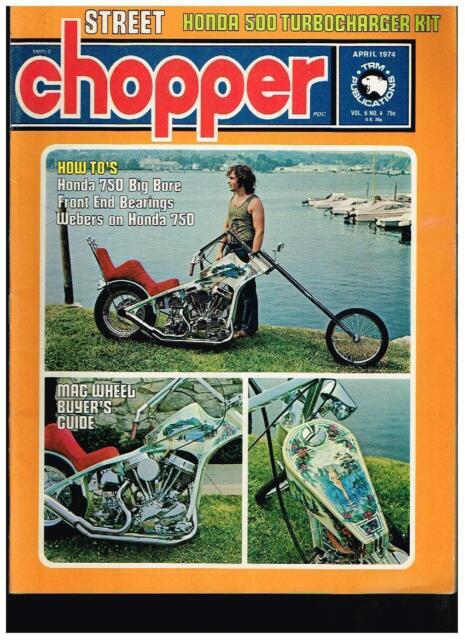 STREET CHOPPER FEBRUARY 1975 SEE CONTENT AEE 70s STYLE