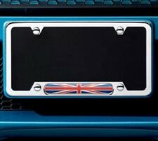 OEM Mini Cooper License Plate Frame Union Jack Polished Chrome 82120306810