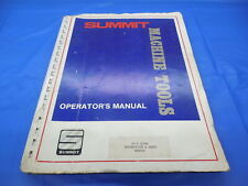 Summit 16 3 Lathe Operators Manual Maintenance Instructions And Parts List