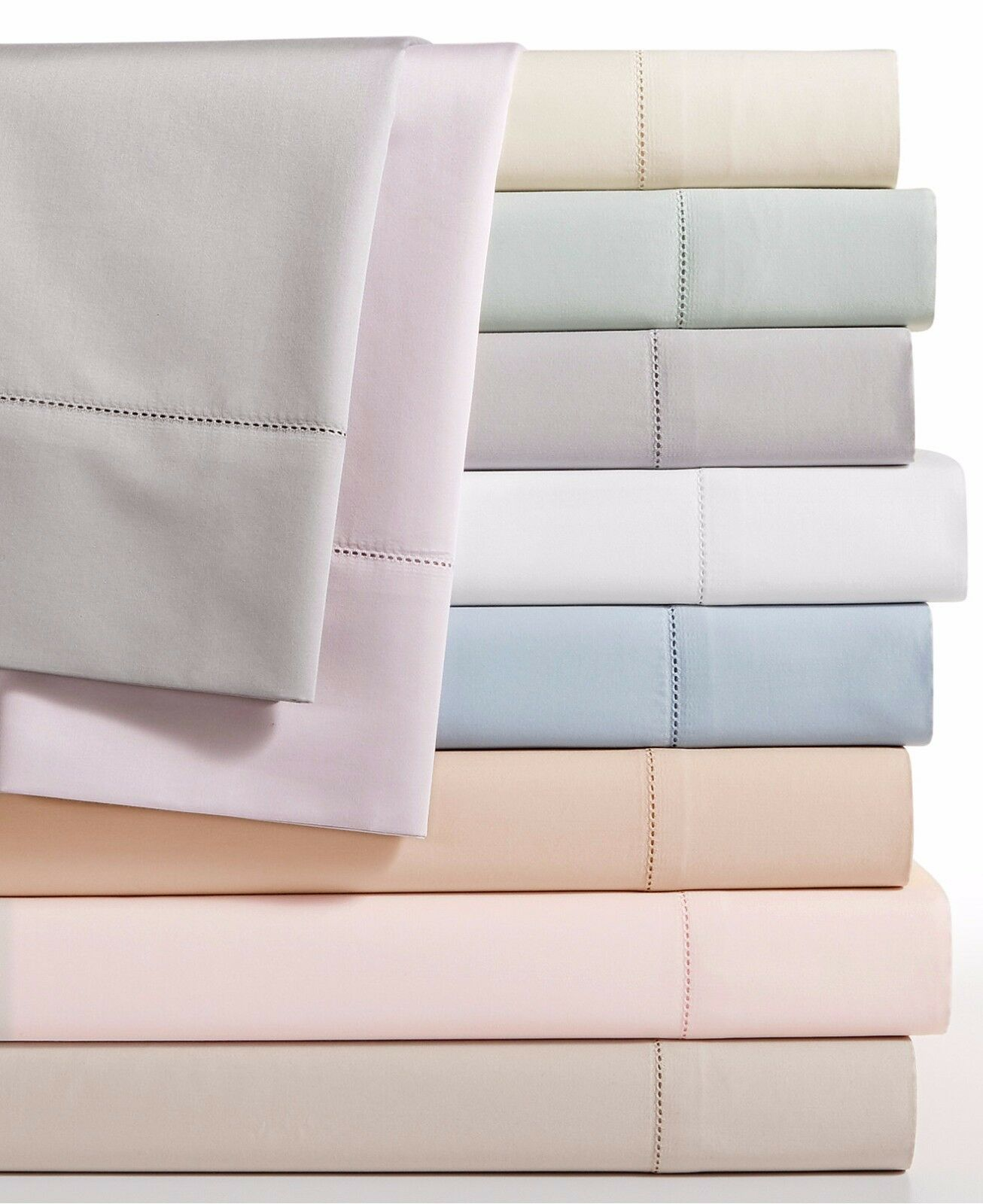 Hotel Collection 680 Thread Count Supima Cotton QUEEN Flat Sheet Weiß G1138