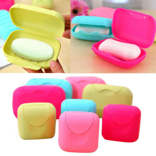 1PC Bathroom Dish Plate Case Home Shower Travel Hiking Holder Container Soap Box